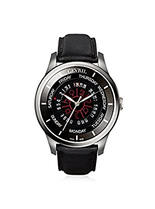 Gevril Men's 2006 Columbus Circle Black Leather Watch