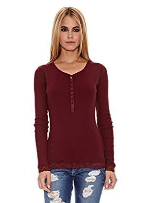 Pepe Jeans London Camiseta Oxford (Rojo Oscuro)