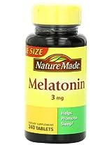 Nature Made Melatonin 3 mg - 240 Tablets