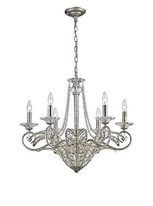 Artistic Lighting 9-Light Chandelier, Sunset Silver