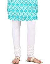 Stop Women's Knit Churidar (4595640-White-Small)