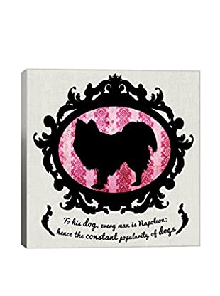 Australian Terrier Pink & Black II Gallery Wrapped Canvas Print