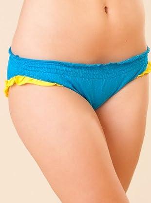 By Basi Braguita Bikini Volante (azul / amarillo)
