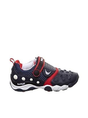 Footgol Sneakers 1 Klett (Marineblau/Rot)