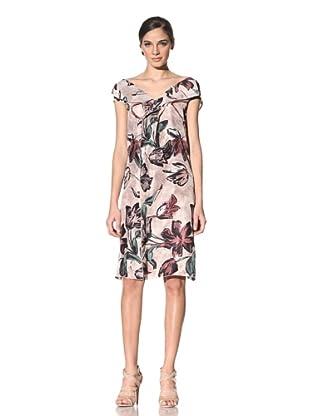 MARNI Women's Floral Print Silk Dress (Rose)