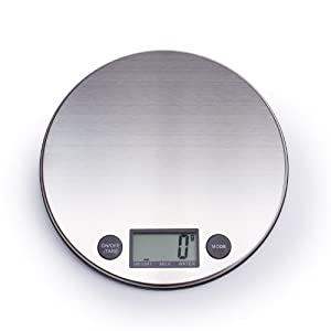 BuyDirect2You Stainless Steel Digital Kitchen Scale, Silver