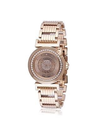 Versace Women's P5Q81SD999 S080 Vanity Diamond, Gold & Stainless Steel Watch
