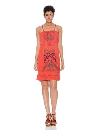 Peace & Love Vestido Bell Gardens (Rojo Coral)
