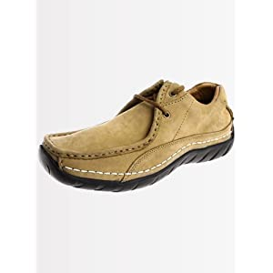Woodland Men Leather Camel Casual Shoes 160106