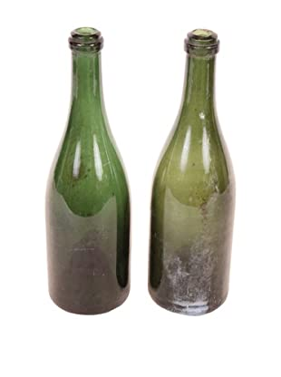 Pair of Antique Champagne Bottles, Green