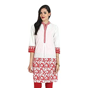 Aaboli women's Red Long Kurta (8907185103651) (Large)