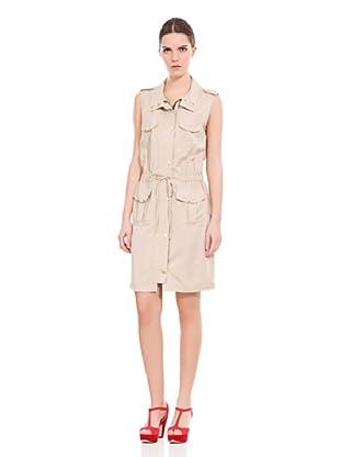 Cortefiel Vestido Safari Tencel (Beige)