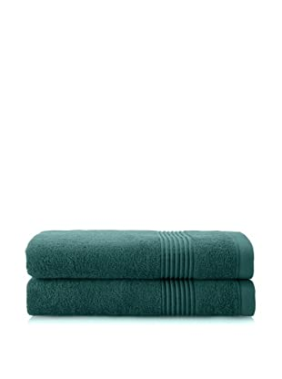 Chortex Ultimate Set of 2 Bath Sheets, Deep Green