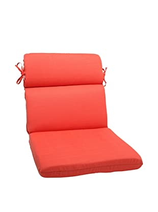 Pillow Perfect Outdoor Forsyth Coral Rounded Corner Chair Cushion, Orange