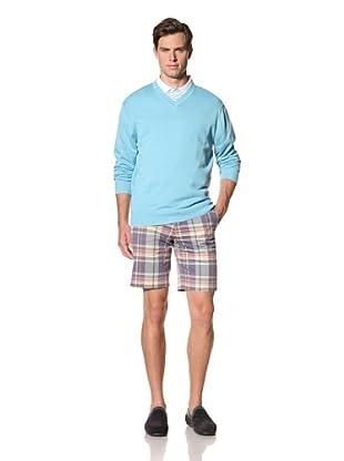 Bobby Jones Men's Pima V-Neck Sweater (Raindrop)