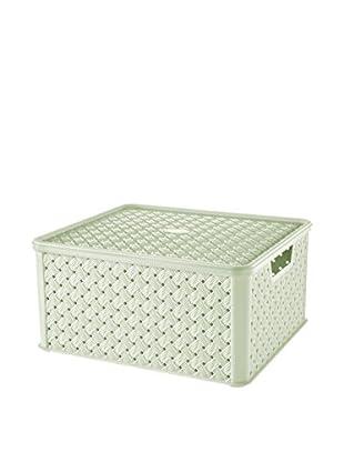 Tontarelli Caja Contenedor x 4 Arianna Grande 13L Verde