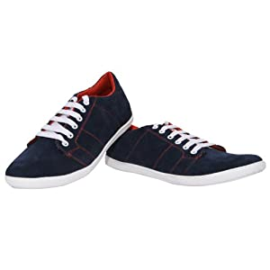Casual Wear Solid Navy Colored Shoes by Marco Ferro - Model Number 1477 - Size 6