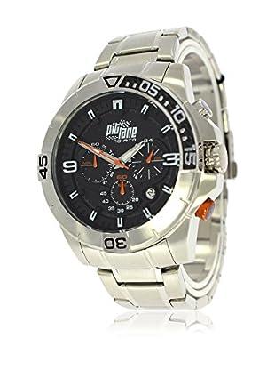Pit Lane Uhr mit Miyota Uhrwerk Pl-1010-3 silberfarben 45 mm