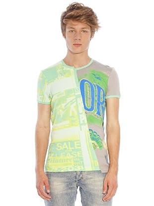 Custo T-Shirt (Grün/Gelb)