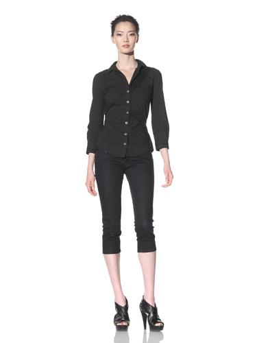 McQ by Alexander McQueen Women's Button-Up Bondage Shirt (Black)