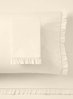 Stitch & Loop Carly Ruffle Sheet Set (Cream)