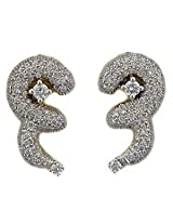Bling Gold & Diamond Earrings - BGE108