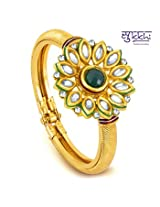Bangles and bracelets - Sukkhi Gold Plated Kundan Flexible Kada