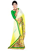 Zoom Embroidered Saree (3162_Yellow)