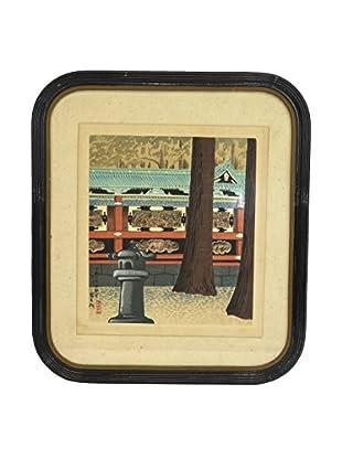 Vintage Wood Block Print, Multi