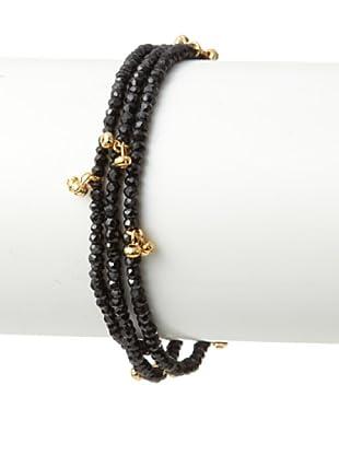 Shashi Black Spinel Eliza Wrap Bracelet