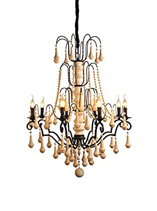 CDI Furniture Grand Iron & Wood Chandelier