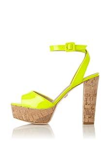 Pour La Victoire Women's Nasha Platform Sandal (Neon Yellow Patent)