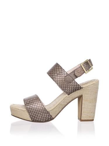 Rosegold Women's Tanya Platform Sandal (Antique Bronze/Pearlized Snake)