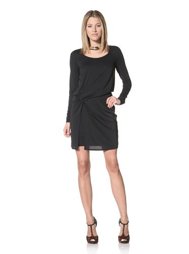 Halston Heritage Women's Side Knot Dress (Black)