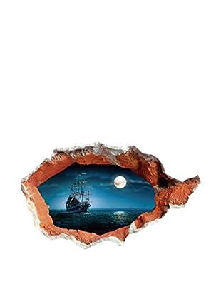 LO+DEMODA Wandtattoo Piratas 3D