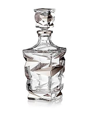 A Casa K Zig Zag Crystal & Platinum 30-Oz. Decanter
