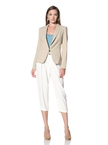 Anne Klein Collection Women's Cut-Away Jacket (Beige)