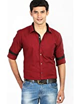 Solid Red Casual Shirt