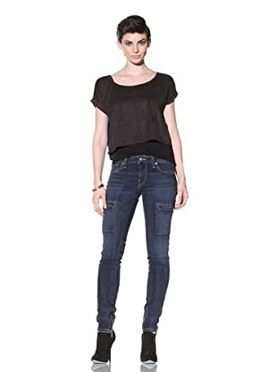 Workcustom Women's Panther Cargo Skinny Jeans (Work Blue)