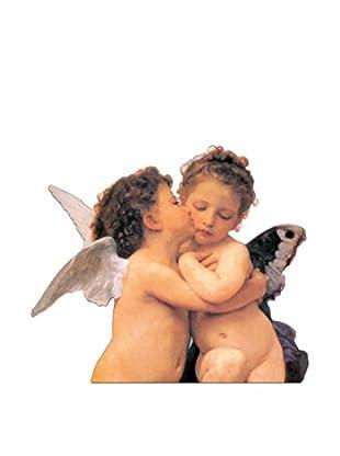 ArtopWeb Panel de Madera Bouguereau The First Kiss Detail