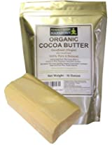 Raw Cocoa Butter - Organic Pure & Natural - Unrefined & Non-Deodorized - Simply The Best ~ Now You Can Buy This Fantastic Premium Quality & Scented Cocoa Butter! *INTRO SPECIAL PRICE $23.99 - LIMITED QTYS * Large ONE POUND (16 oz) BAR / BLOCK + Extracted From The Cacao Bean ~ Carries A Rich Pleasant Chocolate Aroma ~ Naturally Rich In Antioxidants + Great for Homemade Body Butters S