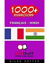 1000+ Exercices Français - Hindi (ChitChat WorldWide) (French Edition)