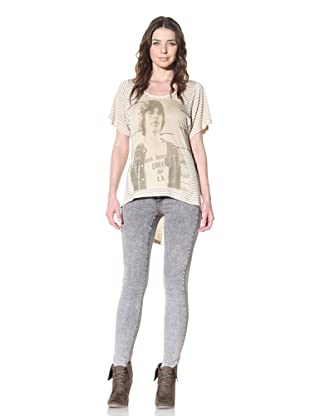 House of the Gods Women's Young Mick with Stripe Tee (Nude)