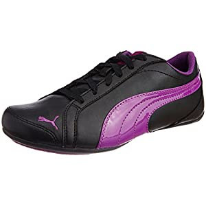 Puma Girls Janine Dance Jr Black and Sparkling Grape Sports and Outdoor Shoes - 1C UK