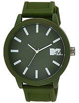 MTV Analog Green Dial Men's Watch - B7002GE