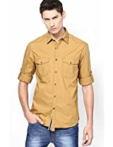 Camel Solid Casual Shirt John Players