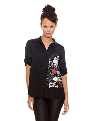 Desigual Camisa Angela (Negro Estampado)