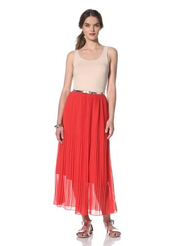 Dolce Vita Women's Elisa Pleated Skirt (Red)