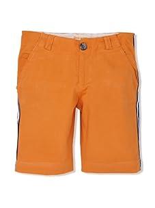 Upper School Boy's Racing Stripe Shorts (Orange)