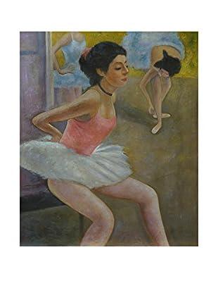 Legendarte Pintura al Óleo sobre Linezo Danzatrice Orgogliosa